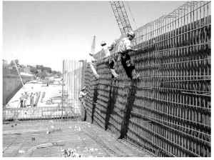 Rebar installation (courtesy HDR Engineering)