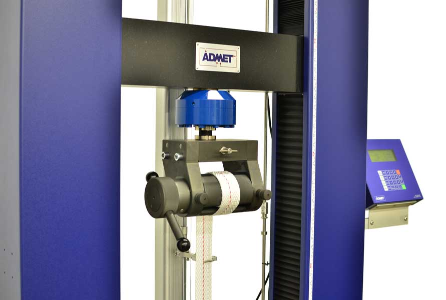 Textile tensile testing with an eXpert 2600