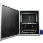 eXpert 5952 5kN system with customer fixture and blackout chamber for testing solar panels