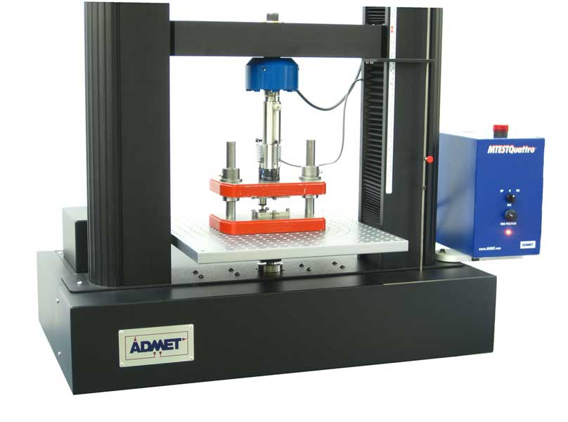 Specialized compression testing fixture for ASTM D695