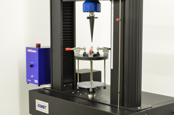 eXpert 2600 with puncture fixture for ASTM D6241 testing