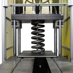 Custom system for testing industrial springs