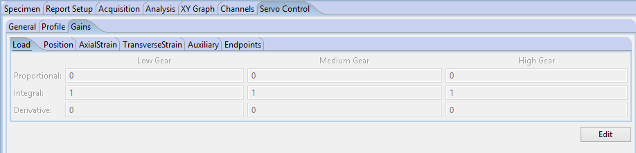 Servo Tab - Gains