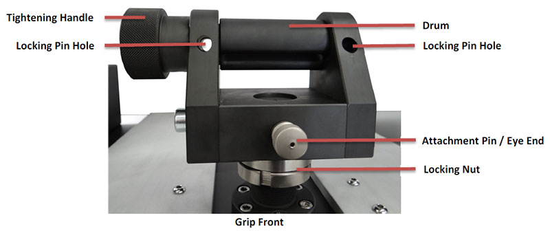 webbing grip for tensile testing