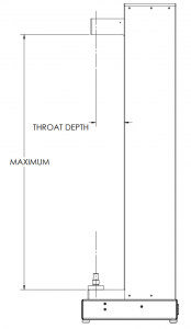 Throat Depth on Single Column Machines