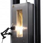 chamber door with video extensometer